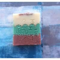 牛奶杏仁皂 - 分層顔色 (SP001-T2) [重量: 75g]